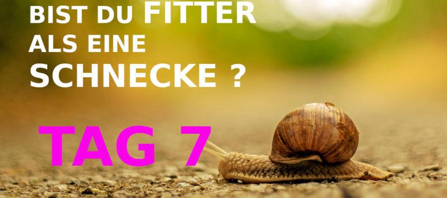 TAG 7. BIST DU FITTER ALS EINE SCHNECKE