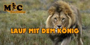 Lauf mit dem könig
