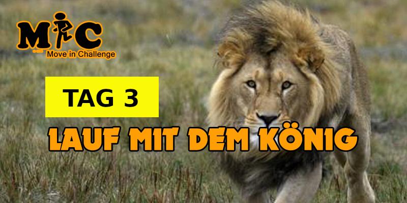 TAG 3 Lauf mit dem könig